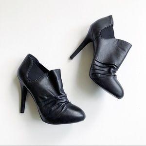 BCBG Paris Benita Leather Stiletto Ankle Boots